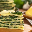 Savory Crepes with Chard — Stock Photo