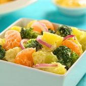 Potato Broccoli Mandarin Salad — Stock Photo