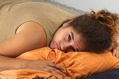 Sad Young Peruvian Woman — Stock Photo