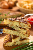 Spanish Tortilla Omelette Slices — Stock Photo