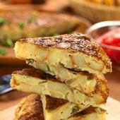 Spanish Tortilla Omelette Slices — Stock Photo