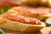 Tomato-Butter Spread on Baguette — Stock Photo
