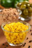 Sweet Corn in Glass Bowl — Stock Photo