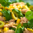 Tuna Sweetcorn and Olive Salad — Stock Photo