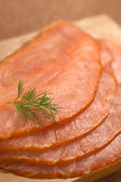 Smoked Salmon with Dill — Stock Photo
