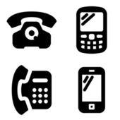 Iconos del teléfono — Vector de stock