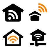 House wireless network — Stock Vector