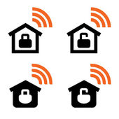 Home Wi-Fi vector signs — Vettoriale Stock