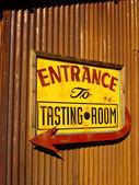 Wine Tasting Sign — Stock Photo