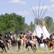 Battle of Bighorn reenactment — Stock Photo