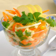 Stock Photo: Celery salad with carrot and apple