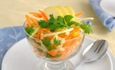 Celery salad with carrot and apple — Stock Photo