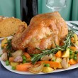 Roasted Chicken with Vegetablesa — Stock Photo #11424820