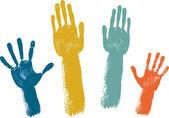 Voting hands — Stock Vector