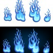 Stock Vector: Gas flame set