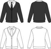 Man cardigan — Stock Vector