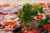 Pizza with dill — Stock Photo