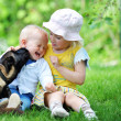 Children and dog — Stock Photo #11219318