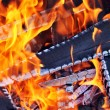 Stock Photo: Burning down fire