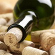 Wine bottle and corks — Stock Photo #10847365