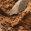 Cocoa mass and cocoa powder - Stok fotoğraf