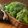 Broccoli in basket — Stock Photo #11396564