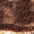 Chocolate cake close-up - Stock Photo