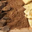 Chocolate ingredients — Stock Photo
