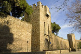 Barcelona's medieval walls. — Stock Photo