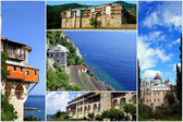 Monasteries on Mount Athos, Chalkidiki, Greece — Stock Photo