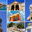 Set of greek historical citys (Athens, Crete island, Delphi) — Stock Photo #10969482