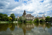 The Vajdahunyad castle, Budapest main city park — Foto Stock