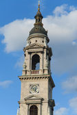 Belfry at blue sky in Budapest, Hungary — Stock Photo