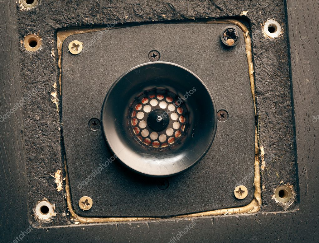 Vintage high-frequency loudspeaker - tweeter, closeup — Stock Photo #10831373