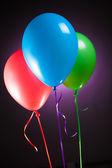 Festive multicolor rgb balloons — Stock Photo