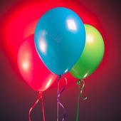 Feestelijke rgb multikleur-ballonnen — Stockfoto