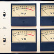 Stock Photo: Vintage analog volume meter