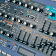 Studio sound processor with knobs and faders — Stock Photo