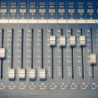 Digital studio mixer faders — Stock Photo
