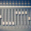 Digital studio mixer faders — Stock Photo #12171164