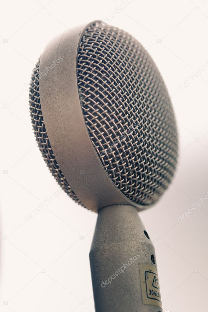 Vintage studio microphone  Lizenzfreies Foto #12171069