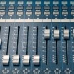 Digital studio mixer faders — Stock Photo #12310862