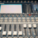 Digital studio mixer faders — Stock Photo #12310921