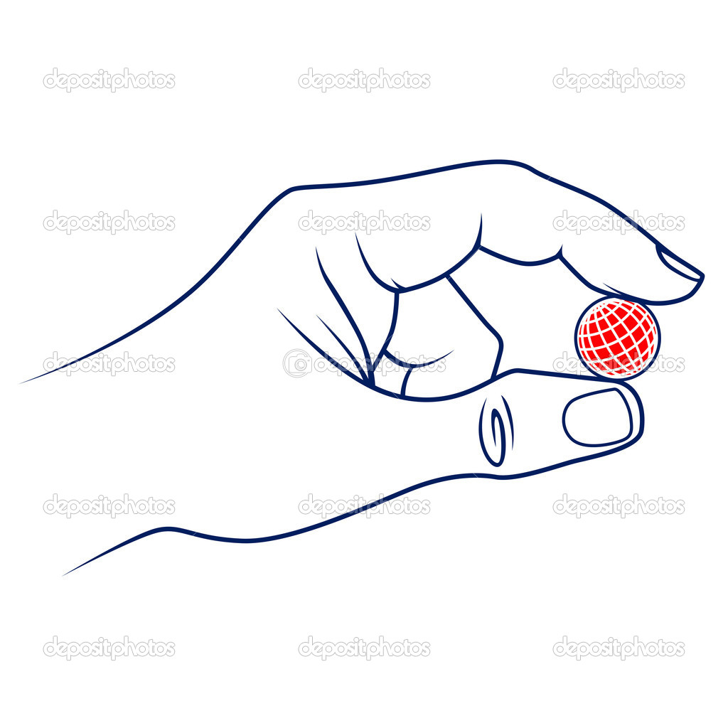 Fingers hold the earth. vector illustration — Stock Vector #10825963