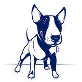 Bull Terrier — Stock Vector