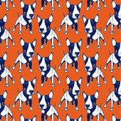 Bull Terrier background — Stock Vector