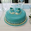 Stock Photo: Blue baby cake