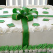 Gift like cake — Stock Photo