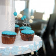 Royalty-Free Stock Photo: Blue cupcakes