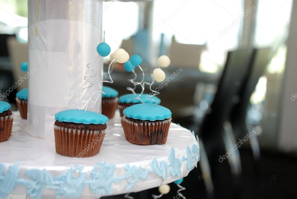 Blue cupcakes — Stock Photo #11952798
